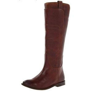 Frye Paige Tall Brown Riding Boots